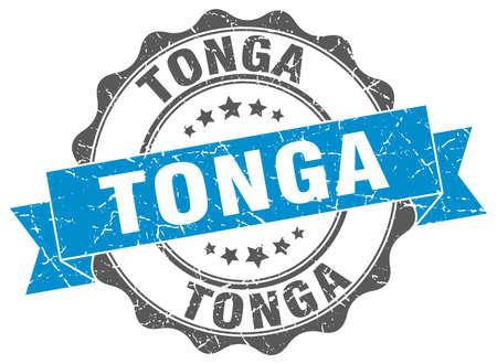 tonga: Tonga round ribbon seal