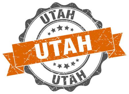 Utah round ribbon seal Illustration