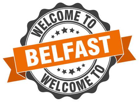 Belfast round ribbon seal Illustration