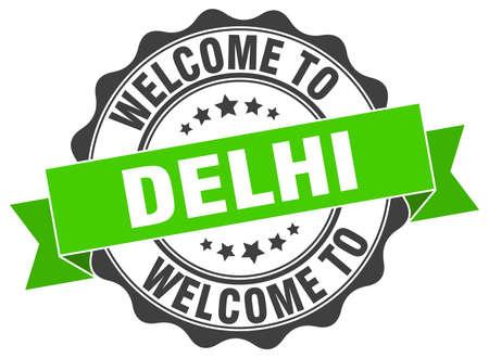 Delhi round ribbon seal Illustration