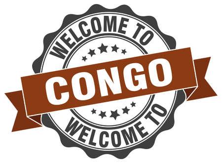 Congo round ribbon seal Illustration