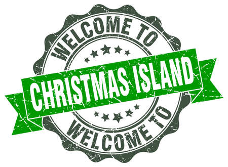 Christmas Island round ribbon seal