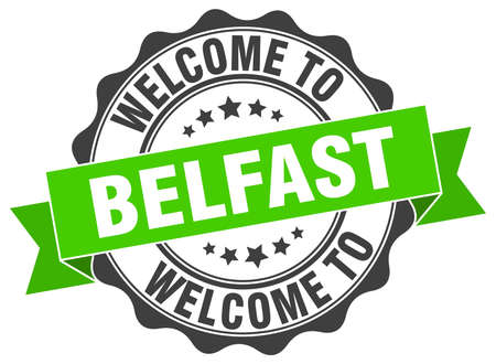belfast: Belfast round ribbon seal Illustration