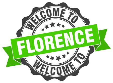 Florence round ribbon seal Illustration