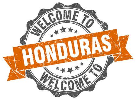 Honduras round ribbon seal Illustration