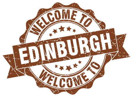 Edinburgh round ribbon seal Illustration