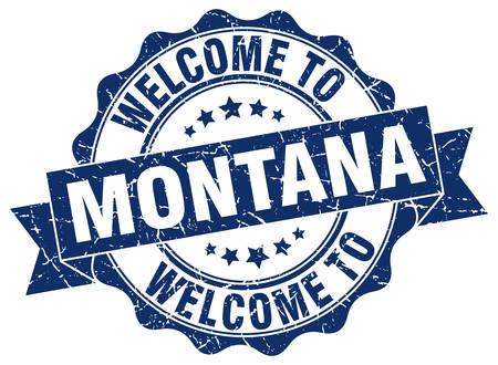 Montana round ribbon seal