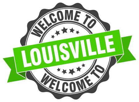 Louisville round ribbon seal Illustration