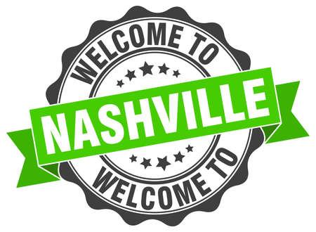 Nashville round ribbon seal Stock Vector - 70910942