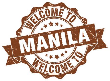 Manila round ribbon seal Illustration