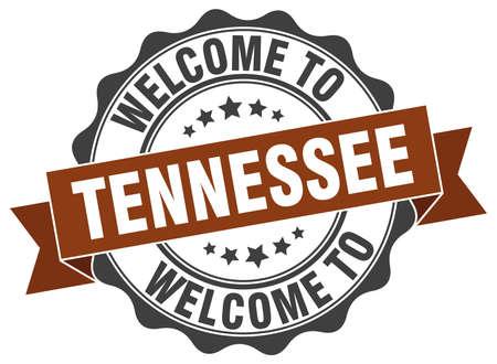 tennesse: sello de la cinta redonda Tennessee