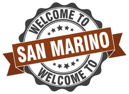 San Marino round ribbon seal