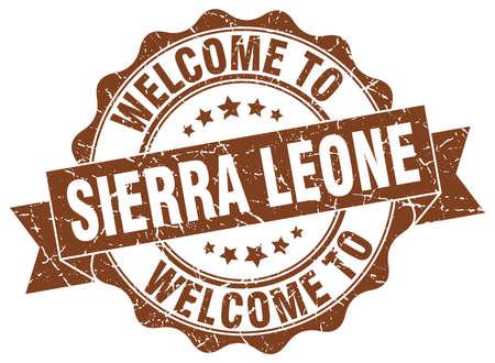 Sierra Leone round ribbon seal Illustration