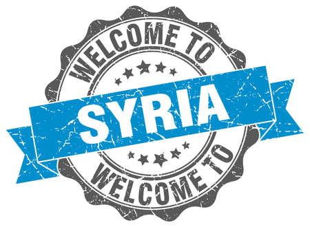 Syria round ribbon seal