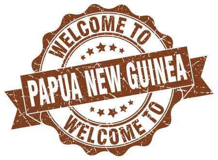 joint ruban ronde Papouasie-Nouvelle-Guinée Vecteurs