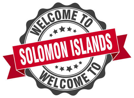Solomon Islands round ribbon seal Illustration