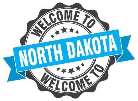 North Dakota round ribbon seal Illustration