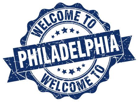 Philadelphia round ribbon seal Illustration