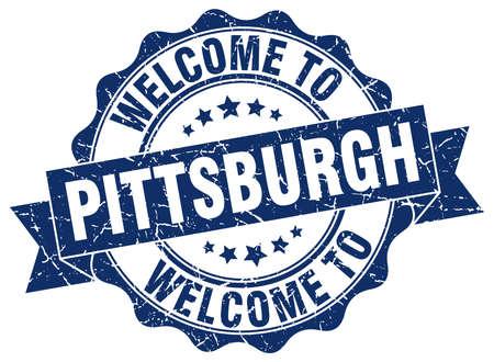 Pittsburgh round ribbon seal Illustration