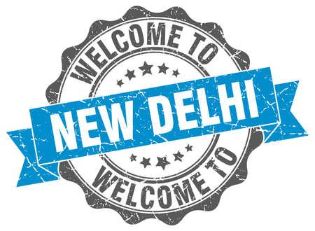 new delhi: New Delhi round ribbon seal