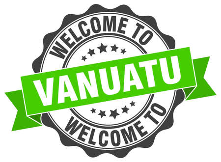 vanuatu: Vanuatu round ribbon seal Illustration