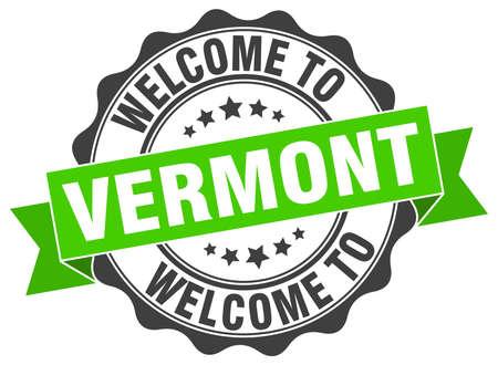 Vermont round ribbon seal Illustration