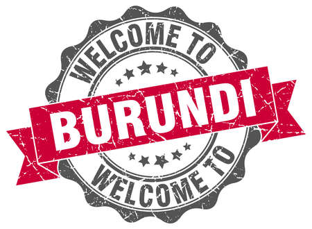 burundi: Burundi round ribbon seal