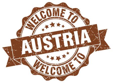Austria round ribbon seal Illustration