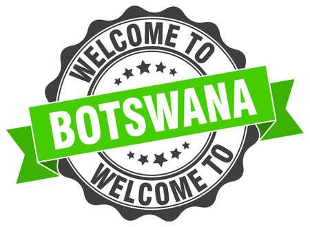 botswana: Botswana round ribbon seal