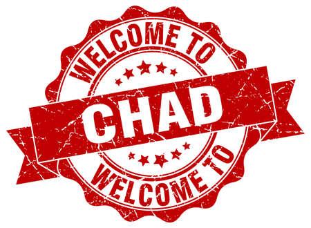 chad: Chad round ribbon seal Illustration