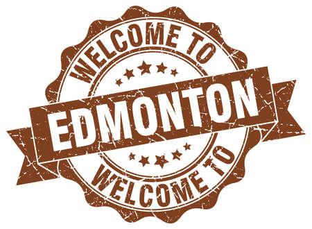 Edmonton round ribbon seal Illustration