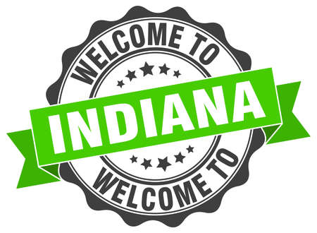 Indiana round ribbon seal