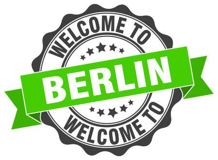 Berlin round ribbon seal Illustration