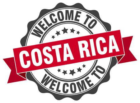 costa: Costa Rica round ribbon seal