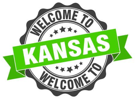 Kansas round ribbon seal