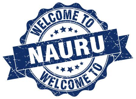 nauru: Nauru round ribbon seal