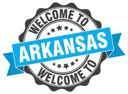 arkansas: Arkansas round ribbon seal