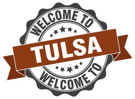 Tulsa round ribbon seal Illustration