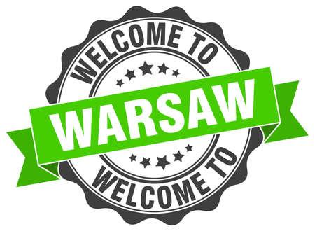 Warsaw round ribbon seal Illustration