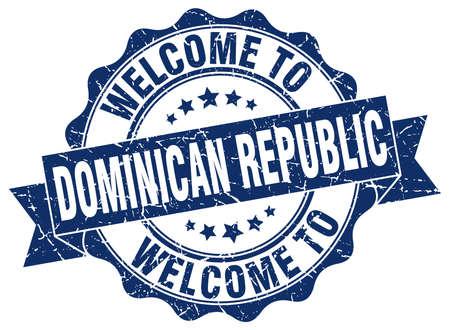 dominican republic: Dominican Republic round ribbon seal Illustration