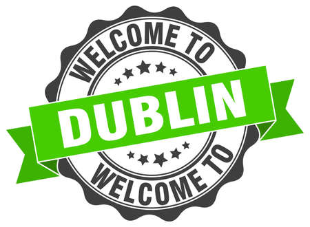 Dublin round ribbon seal Illustration