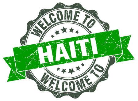 Haiti round ribbon seal