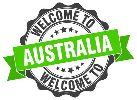 Australia round ribbon seal