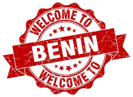 benin: Benin round ribbon seal Illustration