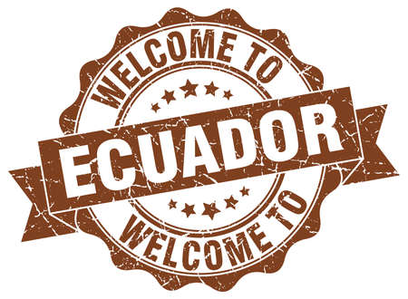 Ecuador round ribbon seal Illustration