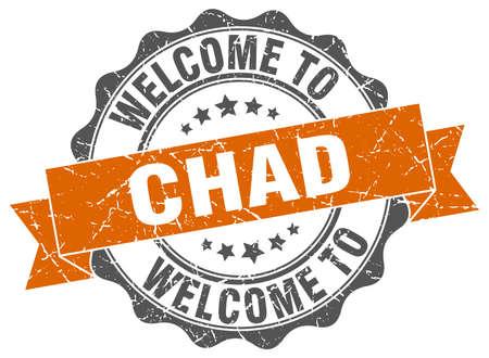 Chad round ribbon seal Illustration