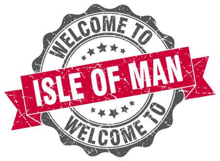 isles: Isle Of Man round ribbon seal