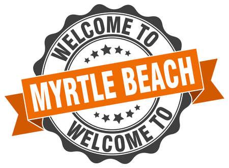 myrtle: Myrtle Beach round ribbon seal