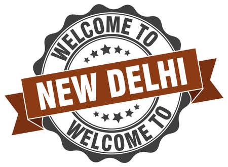 New Delhi round ribbon seal