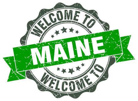 maine: Maine round ribbon seal